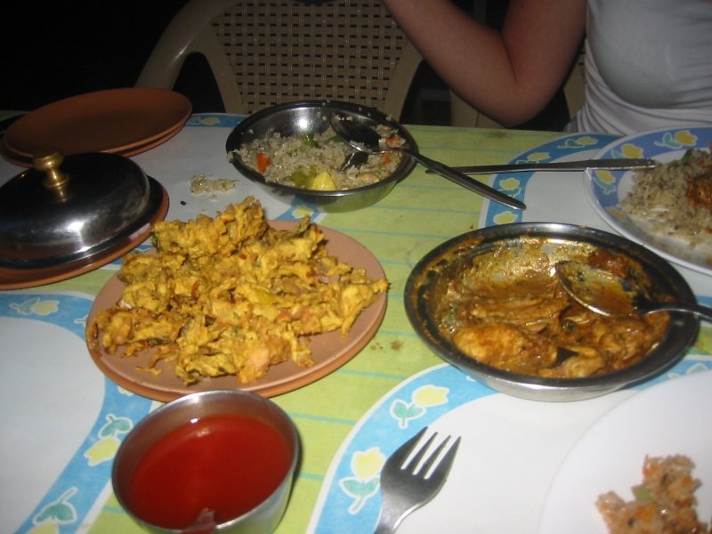 Typical indian curry dishes in Mamallapuram , India