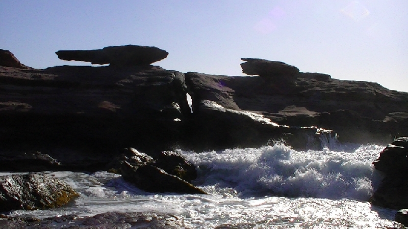 High tide at Mushroom Rock, Kalbarri, Australia