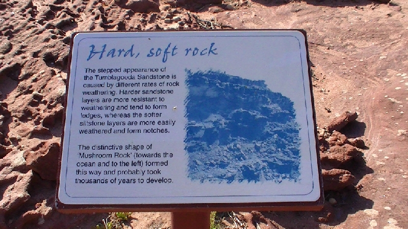 Hard and soft layes at the sandstone rocks of Kalbarri, Australia