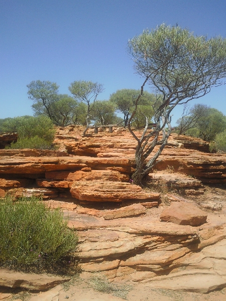 Steep paths to Nature's Window, Kalbarri, Australia