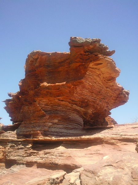 Rock formations at Kalbarri National Park, Australia