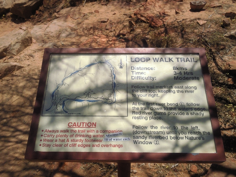 Hiking trail The Loop in Kalbarri National Park, Kalbarri Australia