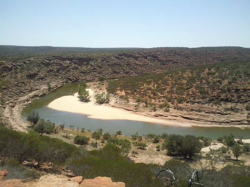 The river and the valley below Nature's Window, Kalbarri, Australia