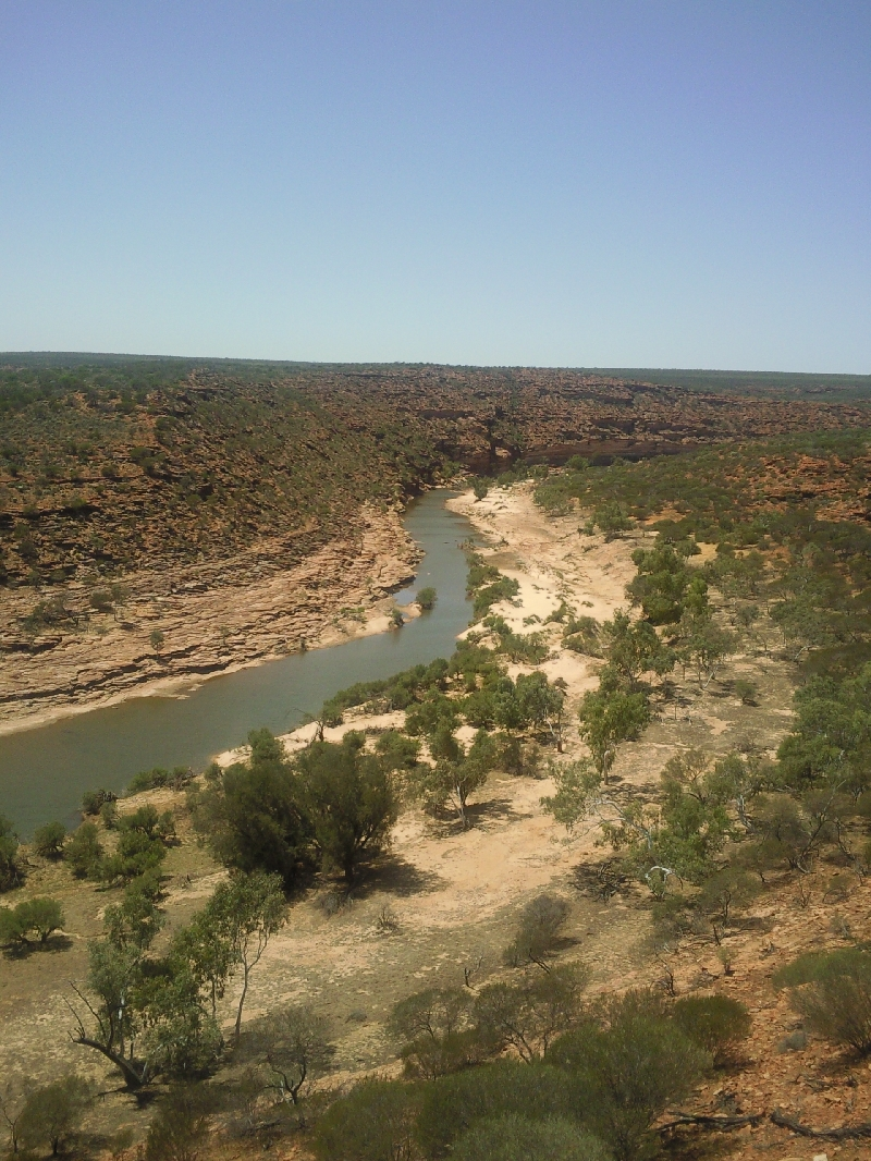 The view from Nature's Window in Kalbarri, Australia