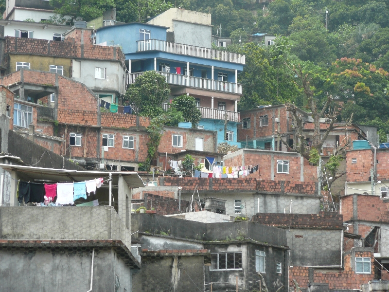 The houses of the Rocinha favela, Brazil