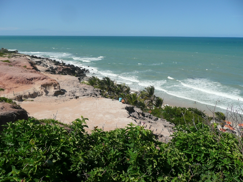 Beautiful lookout over Pipa Beach, Brazil