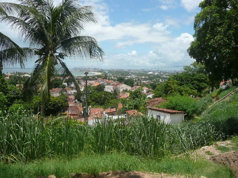Looking out over Olinda and Recife, Brazil