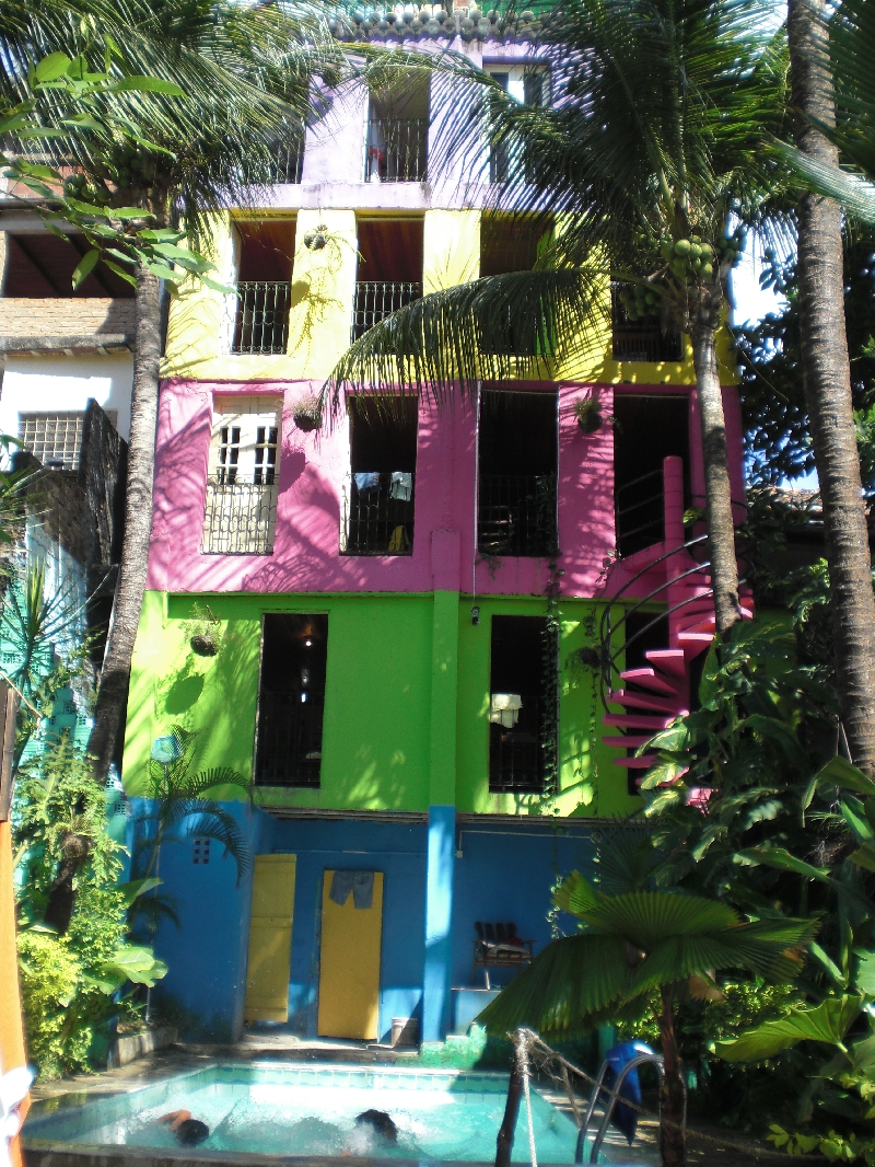 Our colourful hostel, Olinda Brazil