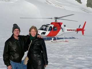 Queenstown New Zealand Helicopter flight on top of Glacier - Wonderful feeling.