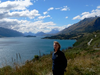 Road to Glenorchy from Queenstown - looking towards the 'Lord of Rings' Fame movie area., New Zealand