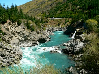 Gorge between Queenstown and Wanaka, New Zealand
