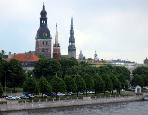 Photos of Riga from the Daugava River, Latvia, Latvia