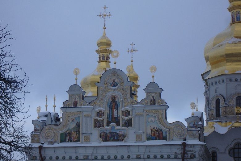 Photos of the Holy Dormition Cathedral of the Kiev-Pechersk Lavra , Kiev Ukraine