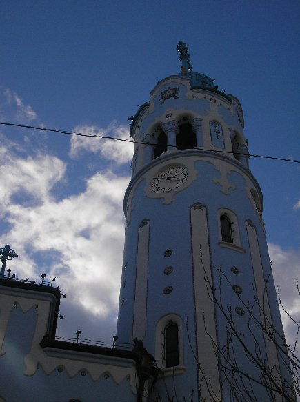 Pictures of the Blue Chuch in Bratislava, Slovakia