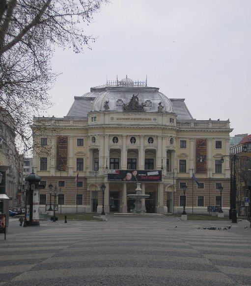 The Slovak National Theatre in Bratislava, Slovakia