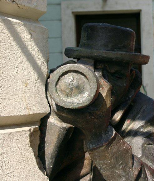 The Paparazzi sculpture in Bratislava, Slovakia