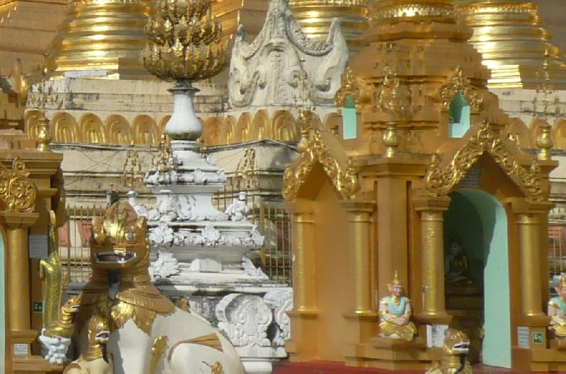 Pictures of the Shwedagon pagoda in Yangon, Myanmar, Myanmar