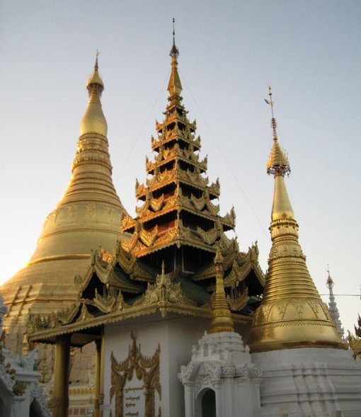 The Shwedagon pagoda in Yangon, Myanmar, Myanmar