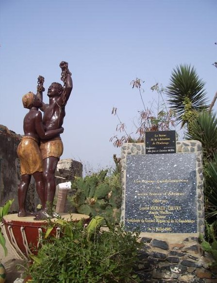 Photos of the Memorial Statue on Ile de Goree, Senegal, Ile de Goree Senegal