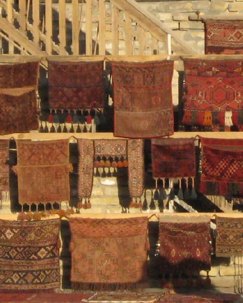 Uzbekistan rugs and carpets in Bukhara, Uzbekistan