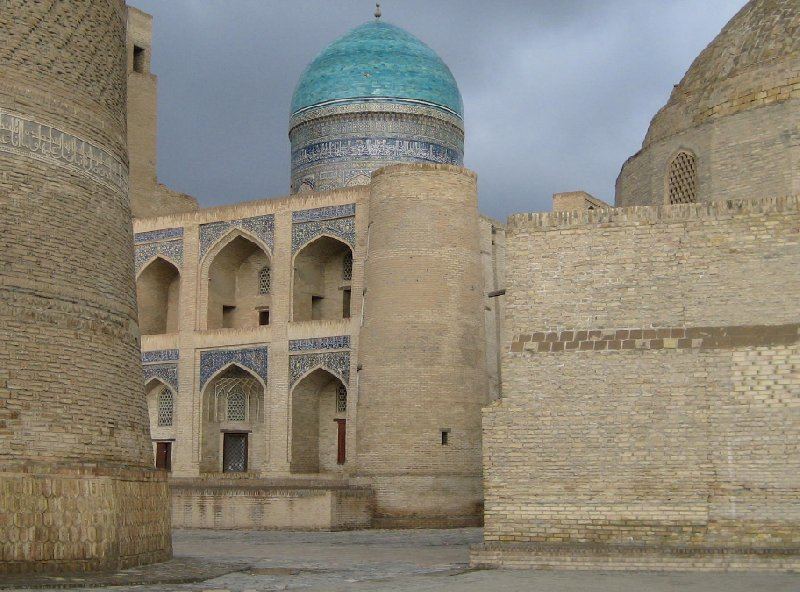 Pictures of the Mir-i Arab madrasah Mosque in Bukhara, Uzbekistan, Uzbekistan