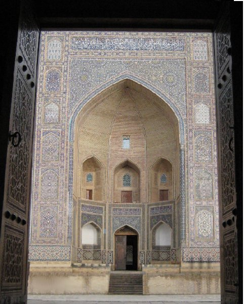 Photos of the Mir-i Arab madrasah Mosque in Bukhara, Uzbekistan, Uzbekistan