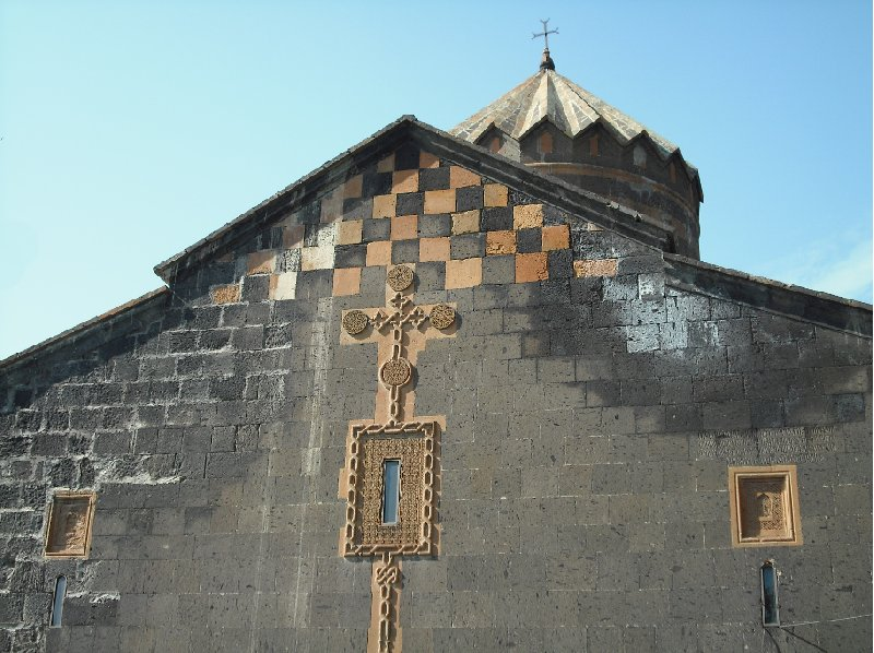 Decorations on the Katoghike Church in Yerevan, Armenia