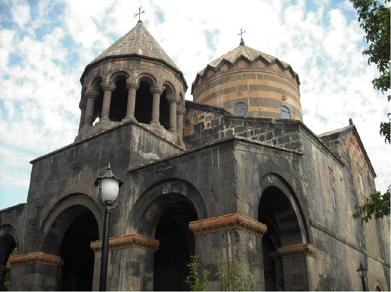 The chapels of the Katoghike Church in Yerevan, Armenia
