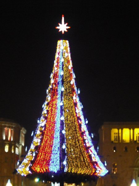 Christmas tree on Republic Square in Yerevan, Armenia, Armenia
