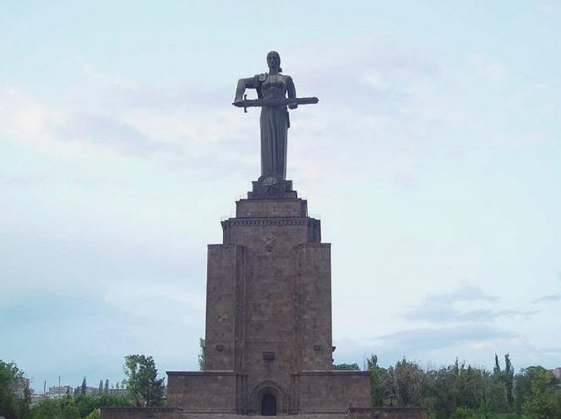 The statue of Mother Armenia in Yerevan, Armenia
