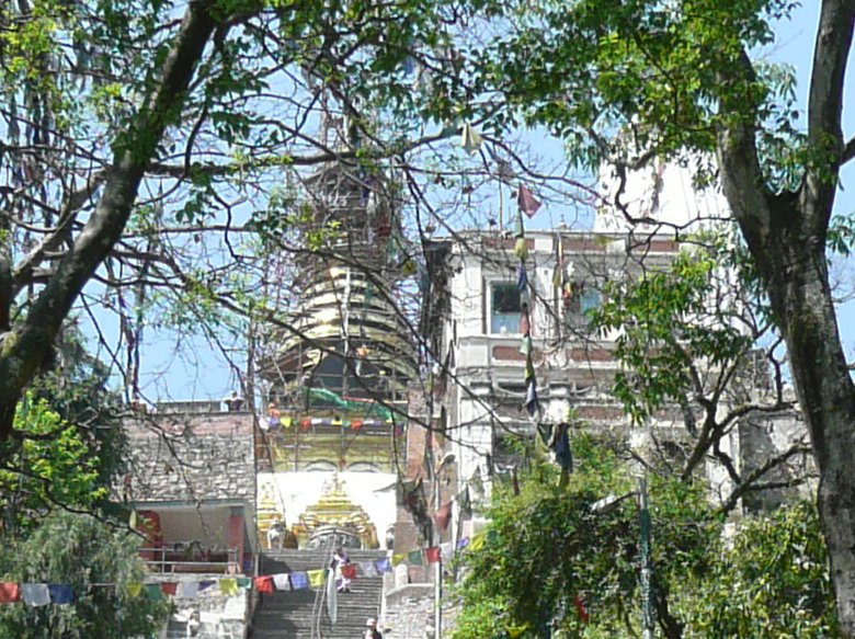 Pictures of the Swayambhunath Stupa in Katmundu, Myanmar, Nepal