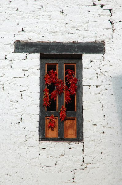 Dried red peppers in Bhutan, Bhutan