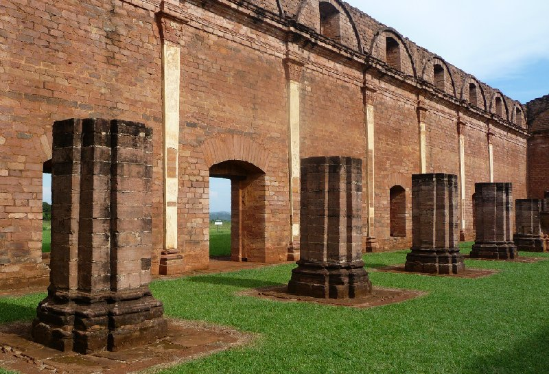 Jesuit colums, Mission in Paraguay, Trinidad Paraguay