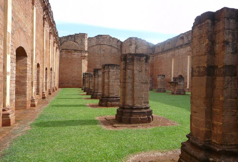 Ruins of the Jesuit Church in Jesus and Trinidad Paraguay, Paraguay
