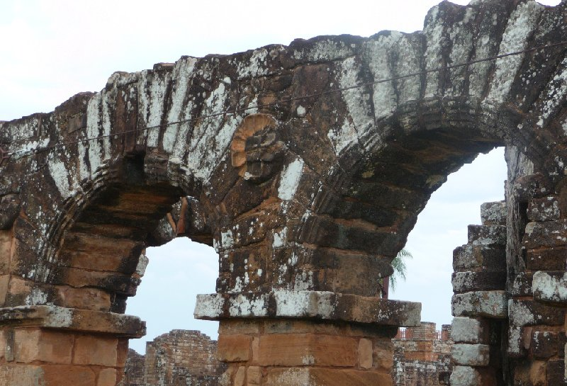 The arches of the Trinidad Ruins in Paraguay, Paraguay