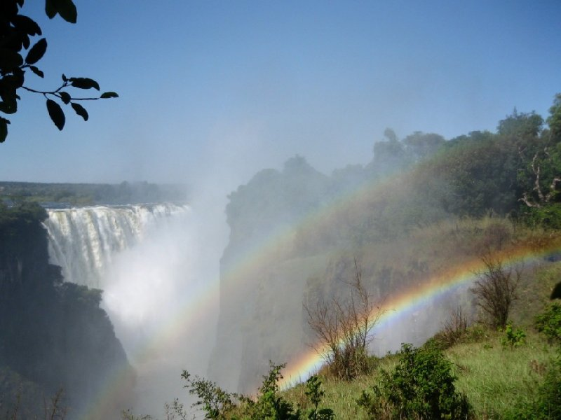 Photo rainbow at Victoria Falls, Zimbabwe