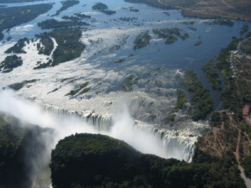 Victoria Falls from the air, helicopter ride, Victoria Falls Zimbabwe