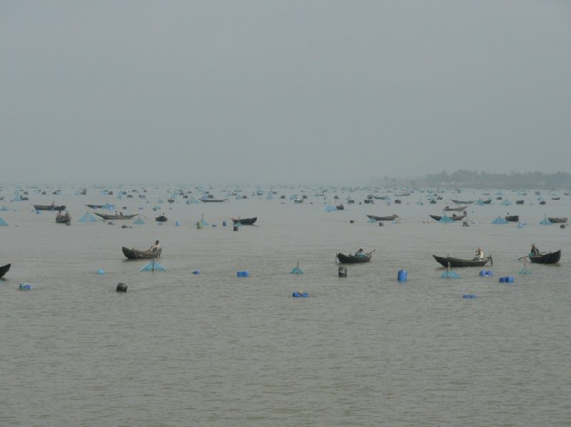 Boats in the Bay of Bengal, Sundarbans Bangladesh
