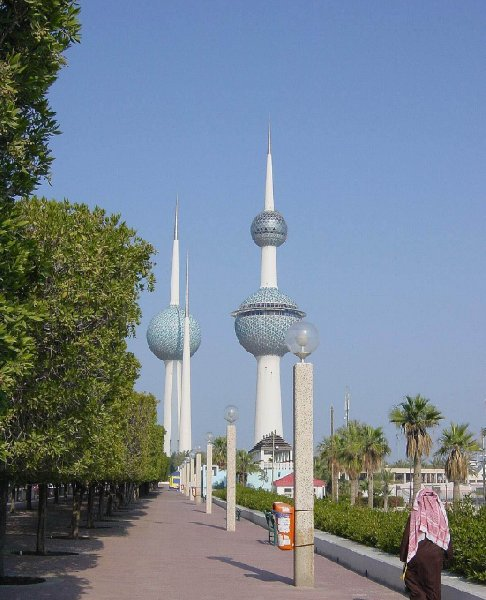 Photos of the Kuwait Towers, Kuwait City Kuwait