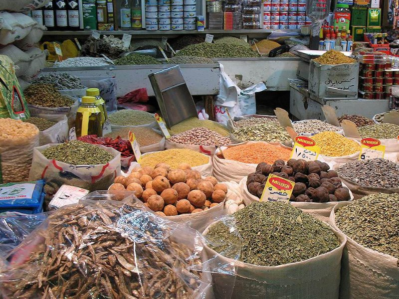 Shopping at the local market in Kuwait City, Kuwait