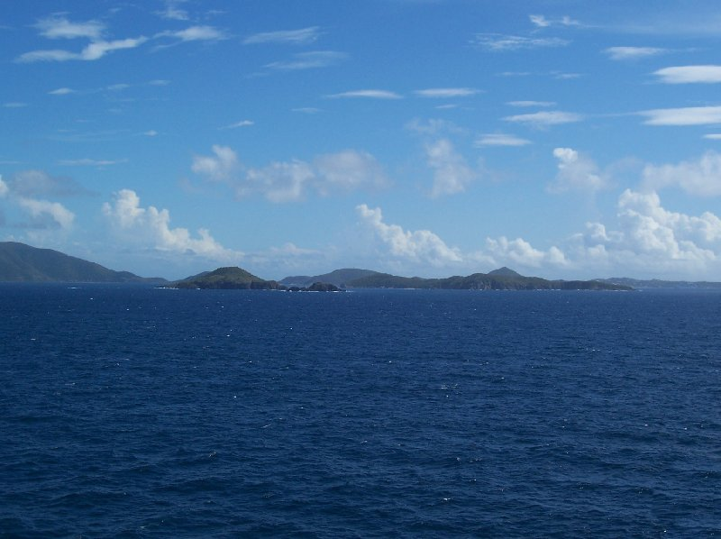 Panorama of the US Virgin Islands from our Cruise Ship, British Virgin Islands