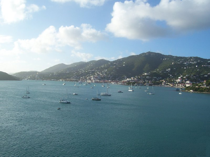 Pictures of the harbour of St Thomas, Virgin Islands Charlotte Amalie