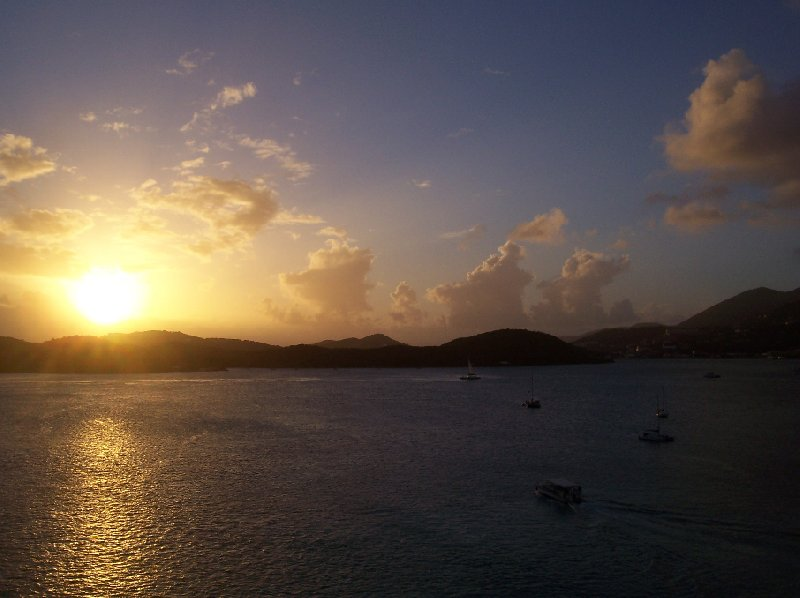 Sunset over St Thomas, US Virgin Islands, United States Virgin Islands