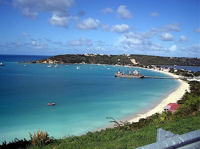Panoramic photo of Sandy Ground, Anguilla, The Valley Anguilla