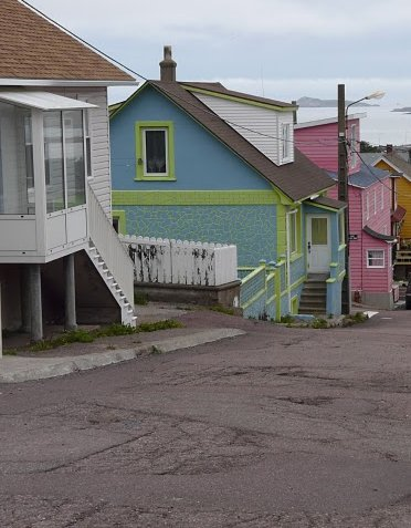 Colourful houses of Saint-Pierre, Saint Pierre Saint Pierre and Miquelon