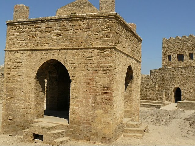 Photos of the Fire Temple at Surakhany, Azerbaijan, Baku Azerbaijan