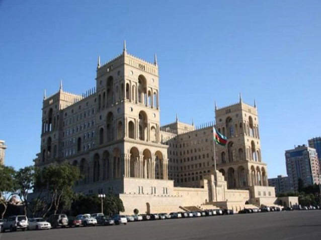 Azerbaijani parliament in Baku, Azerbaijan