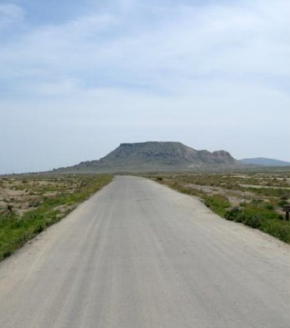 Road from Baku to Gobustan, Azerbaijan