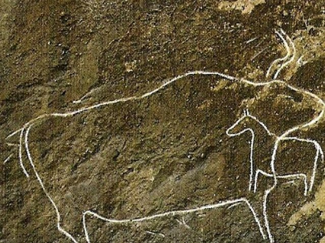 Photos of the petroglyphs of Gobustan, Azerbaijan