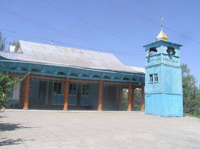 The Blue Dungan Mosque of Karakol, Kyrgyzstan, Kyrgyzstan